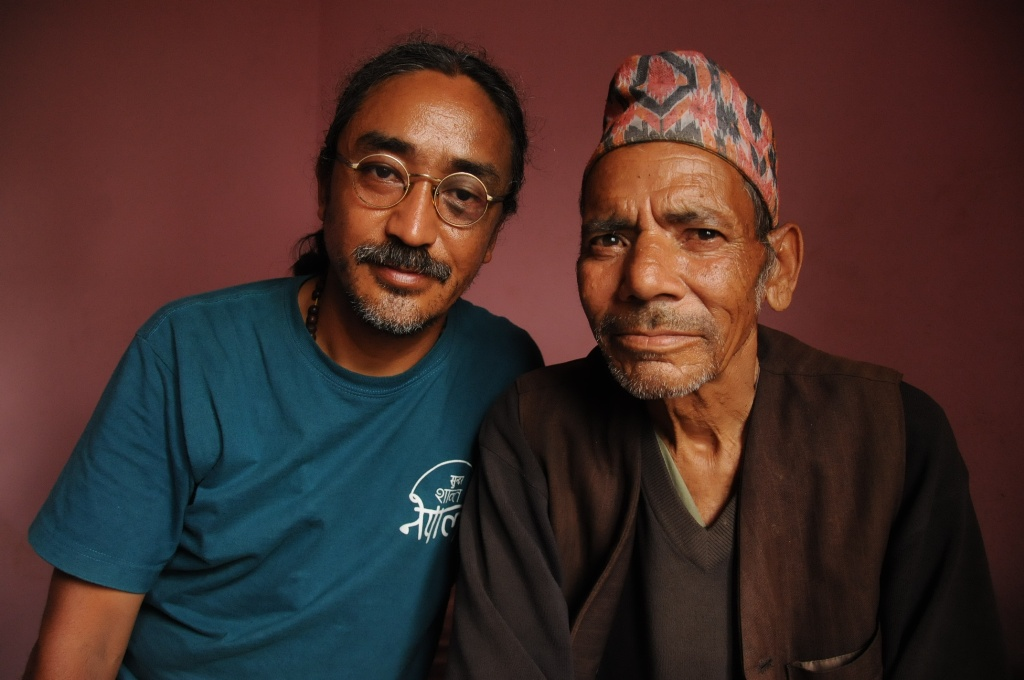 Nepathya's Amrit Gurung with Dille Damai local folk musician of Chainpur